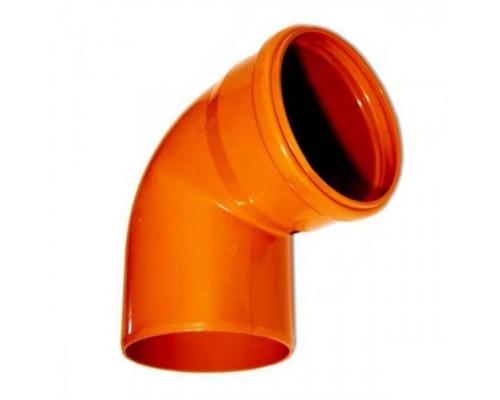 Отвод НПВХ напорный Дн160х90, Хемкор