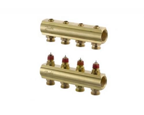 Коллектор распределительный FHF-4 конфигурация 4+4, Dafnoss 088U0544