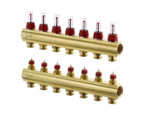 Коллектор распределительный FHF-7 конфигурация 7+7, Dafnoss 088U0547