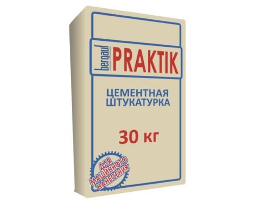 Штукатурка цементная фасадная Бергауф Практик (Bergauf Praktik), 30кг