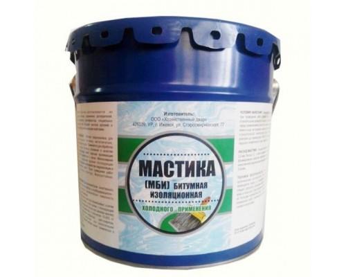 Мастика битумная изоляционная МБИ, ХозДвор (1 шт.=15 кг. п/эт)
