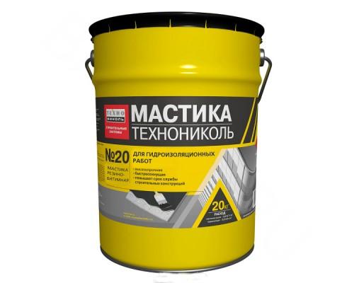 Мастика битумно-резиновая, ТЕХНОНИКОЛЬ №20 (ведро 20 кг)