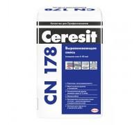 Смесь Церезит (Ceresit) CN178 для выравнивания оснований пола и изготовления стяжек внутри и снаружи зданий , толщ.5-80мм, 25кг