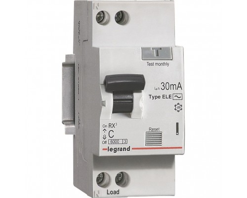 АВДТ RX3 6000 - 6 кА - тип характеристики С - 1П+Н - 230 В~ - 6 А - тип AС - 30 мА - 2 модуля