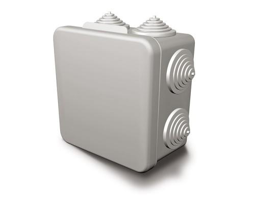 Коробка распределительная 100х100х55 с отверстиями(8 муфт)