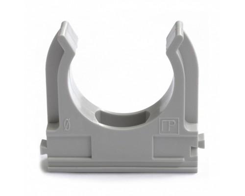 Держатель 16 мм ПВХ серый для труб
