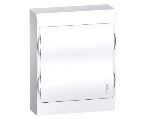 Щит распределительный навесной белый дверь белая на 24 модуля IP40 Easy9