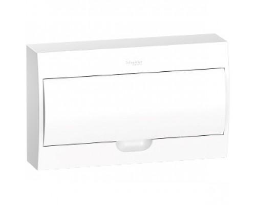 Щит распределительный навесной белый дверь белая на 18 модулей IP40 Easy9