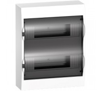 Щит распределительный навесной белый дверь прозрачная на 24 модуля IP40 Easy9