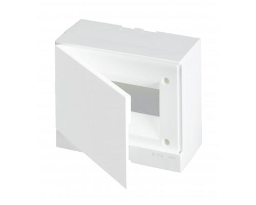 Бокс навесной ЩРн-П-8М белая дверь Basic E (с клеммами) (BEW401208)