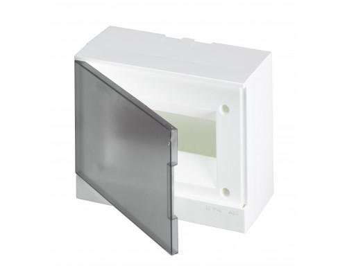 Бокс навесной ЩРн-П-8М серая дверь Basic E (с клеммами) (BEW402208)