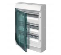 Щит распределительный навесной ЩРн-п 54М пластиковый прозрачная дверь Mistral65 с клеммами