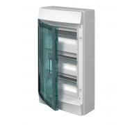 Щит распределительный навесной ЩРн-п 36М пластиковый прозрачная дверь (3 ряда) Mistral65 с клеммами