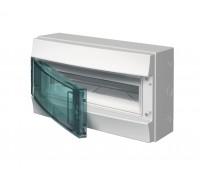 Щит распределительный навесной ЩРн-п 18М пластиковый прозрачная дверь Mistral65 с клеммами