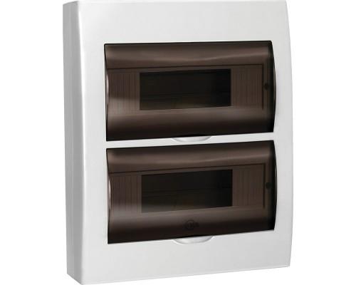 Щит распределительный навесной ЩРн-П-24 IP41 пластиковый белый прозрачная дверь (MKP12-N-24-40-10)