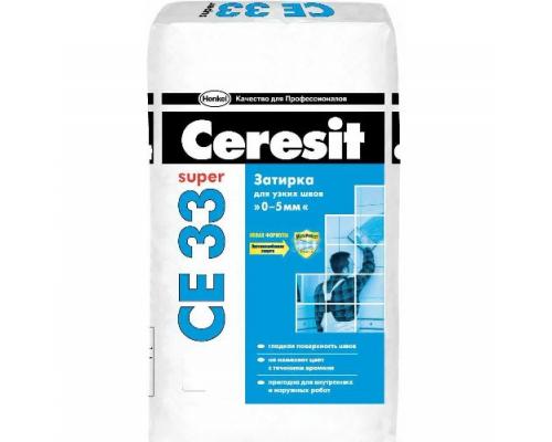 Затирка Церезит CE33 Супер №01 (белый) 2-5мм, 25кг (48шт/пал)