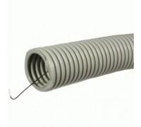 Труба гофрированная ПВХ 20мм с протяжкой строительная (100м)