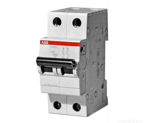 Выключатель автоматический двухполюсный 16А С SH202L 4.5кА (SH202L C16)