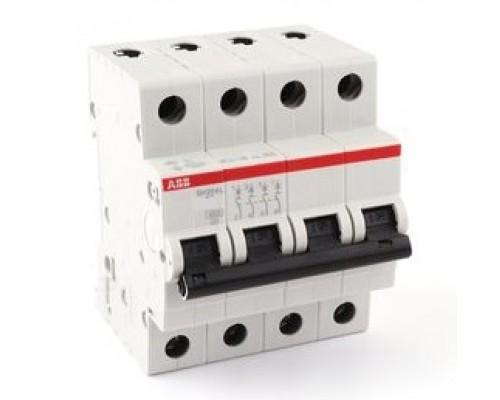 Выключатель автоматический четырехполюсный 40А С SH204L 4.5кА (SH204L C40)