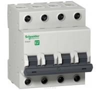 Выключатель автоматический четырехполюсный 6A C Easy9 4.5кА (EZ9F34406)