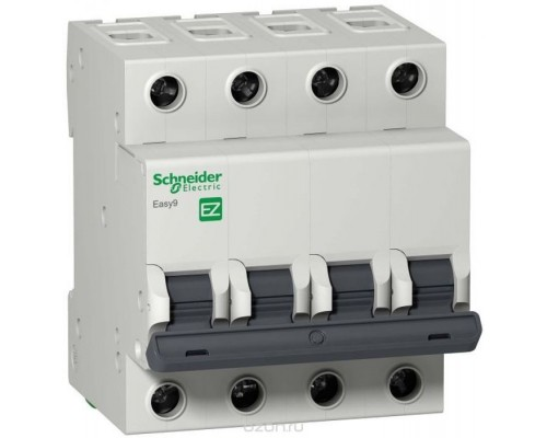 Выключатель автоматический четырехполюсный 40А C Easy9 4.5кА (EZ9F34440)