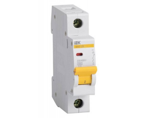 Выключатель автоматический однополюсный 10А C ВА47-29 4.5кА