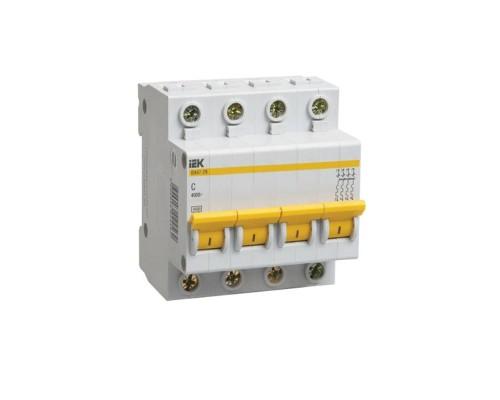 Выключатель автоматический четырехполюсный 20А С ВА47-29 4.5кА (MVA20-4-020-C)