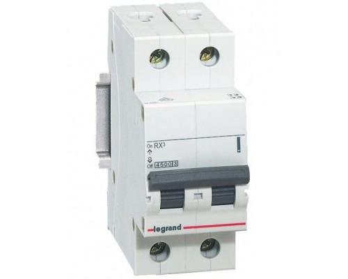 Выключатель автоматический двухполюсный RX3 4,5 кА C 50 А