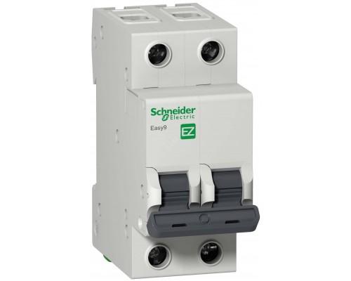 Выключатель автоматический двухполюсный 50A C 4.5кА EASY 9 (EZ9F34250)