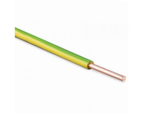 Провод ПУВ 1х2.5 желто-зеленый однопроволочный
