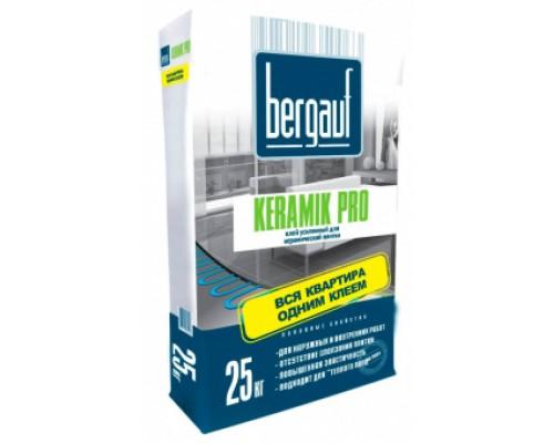 Усиленный клей для плитки и керамогранита Бергауф Керамик Про (Bergauf Keramik Pro), 25кг