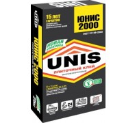 Клей для плитки и керамогранита Юнис 2000 (Unis 2000), 25кг