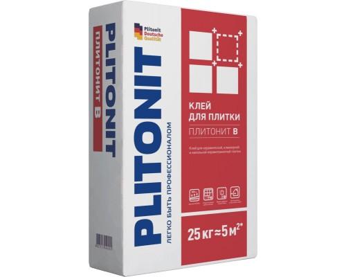 Клей для плитки Плитонит В универсальный для внутренних и наружных работ, 25кг