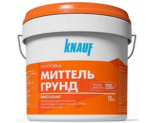 Грунтовка Миттельгрунд KNAUF, ведро 10 кг.