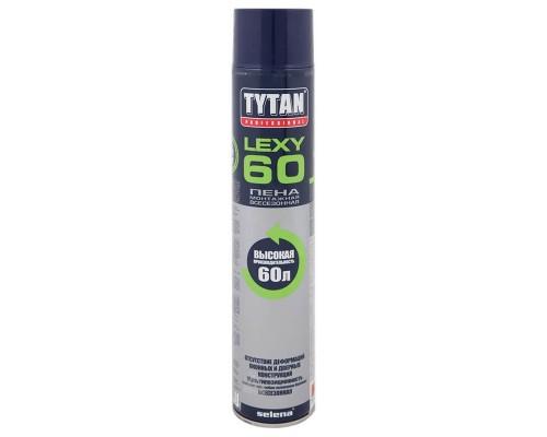 Пена монтажная бытовая Tytan Professional Lexy60 всесезонная, 750 мл.