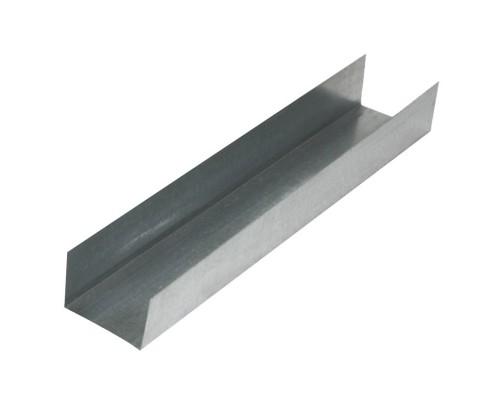 Профиль направляющий для гипсокартона ПН 75*40*3000 толщ.0,55мм