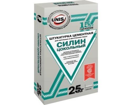 Штукатурка цементная Юнис Силин Цокольный, 25кг