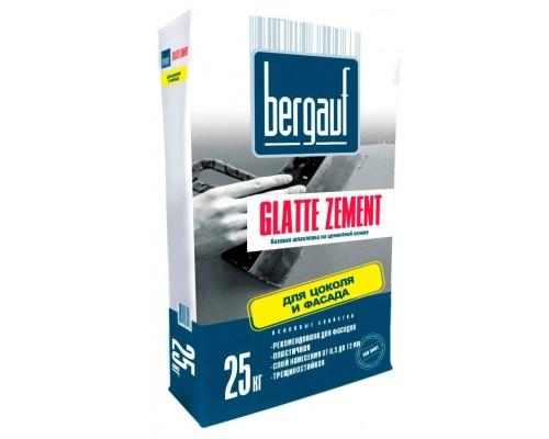 Шпаклевка базовая Бергауф Глатт Цемент (Bergauf Glatte Zement), 25кг
