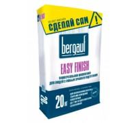 Шпаклевка цементная Бергауф Изи Финиш для внутренних и наружных работ (Bergauf Easy Finish) белая, 20кг