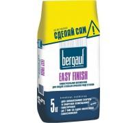 Шпаклевка цементная Бергауф Изи Финиш для внутренних и наружных работ (Bergauf Easy Finish) белая, 5кг