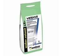 Шпаклевка финишная полимерная Вебер.Ветонит ЛР+ (weber.vetonit LR+) для сухих помещений, 5кг
