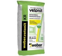 Шпаклевка финишная на органическом связующем Вебер.Ветонит КР (weber.vetonit KR) для сухих помещений, 20кг