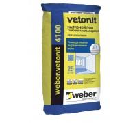 Наливной пол Вебер.Ветонит 4100 (weber.vetonit 4100) под тонкие покрытия, толщ.2-30мм, 25кг