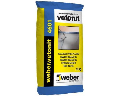 Промышленный наливной пол Вебер.Ветонит 4601 Базовый (weber.vetonit 4601 Industry Base Extra), серый, толщ.5-50мм, 25кг
