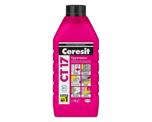 Грунтовка Церезит СТ17 (Ceresit CT17) для укрепления и импрегнирования оснований, 1л